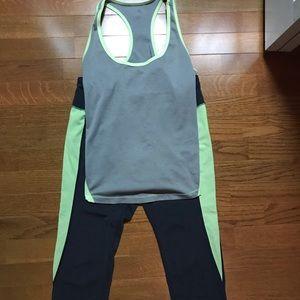 Yellow and gray activewear set